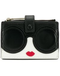 Alice + Olivia Compact Stace Face Wallet - Black