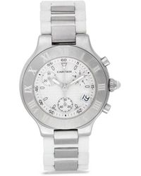 Cartier Orologio Must 21 38mm Pre-owned 2005 - Bianco