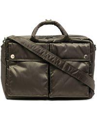 Porter X Mackintosh Quilted Briefcase - Green
