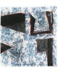 Zadig & Voltaire アニマルプリント スカーフ - ブラック