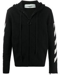 Off-White c/o Virgil Abloh Arrows Zipped Cardigan - Black
