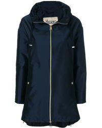 Herno Shiny A-shape jacket - Bleu