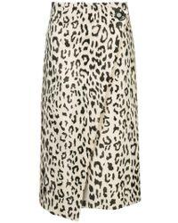Goen.J - Leopard Faux-fur Wrap Skirt - Lyst