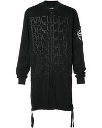 Haculla Удлиненная Куртка-бомбер 'shocked 2 Death' - Черный