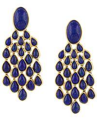 Aurelie Bidermann Lapis Lazuli Drop Earrings - Metallic