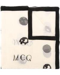 McQ ポルカドット スカーフ - ブラック