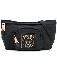 Moschino Marsupio Teddy Label - Nero