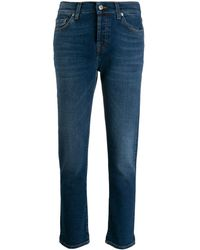 7 For All Mankind - クロップド スキニージーンズ - Lyst