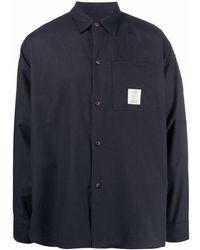 Societe Anonyme Camisa con parche del logo - Azul