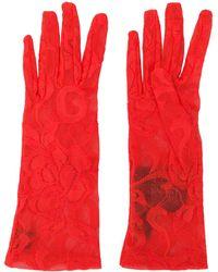 Gucci Gants en dentelle à fleurs - Orange