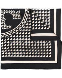 Tory Burch ロゴ スカーフ - ブラック