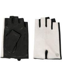 Karl Lagerfeld Vingerloze Handschoenen - Wit