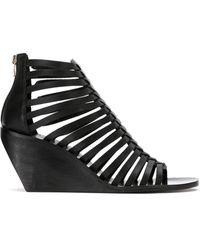 UMA | Raquel Davidowicz Leather Sandals - ブラック