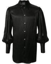 Ann Demeulemeester - Balloon Sleeved Silk Shirt - Lyst