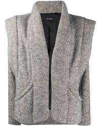 Isabel Marant Структурированная Куртка Оверсайз - Серый