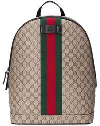 Gucci - Zaino 'gg Supreme' Con Dettaglio Web - Lyst