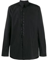 Givenchy Рубашка С Вышитым Логотипом - Черный