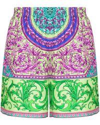 Versace Bermuda Shorts Met Print - Blauw