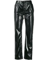 MM6 by Maison Martin Margiela Vinyl-effect Trousers - Black