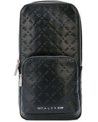 1017 ALYX 9SM Embossed Sling Bag - Black