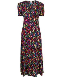 M Missoni - Robe mi-longue à imprimé abstrait - Lyst