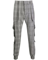 Juun.J Checked Pattern Cargo Pants - Black
