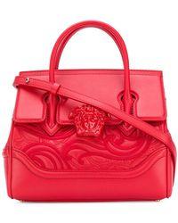 Lyst - Versace Small Palazzo Empire Color Block Leather Tote Bag 7305f8fa5f472