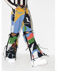 BETHANY WILLIAMS Ausgestellte Hose mit Print - Blau