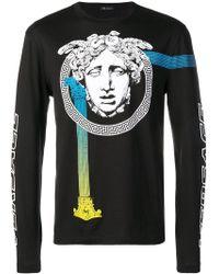 Versace - Langarmshirt mit Logo - Lyst