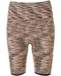 The Upside Pantalones cortos de ciclismo con motivo space-dye - Rojo