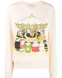 Lanvin Printed Sweatshirt - Multicolour