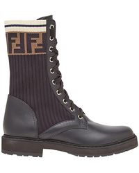Fendi Rockoko combat boots - Noir