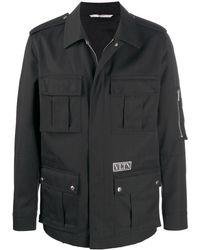 Valentino - Vltn-patch Shirt Jacket - Lyst