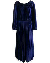 Valentino ベルベット ドレス - ブルー