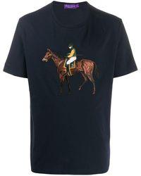 Ralph Lauren Purple Label Polo Player Embroidered T-shirt - Purple