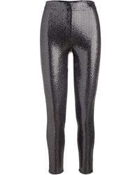Rosetta Getty Pantalones skinny con lentejuelas - Metálico