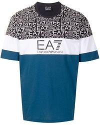 EA7 カラーブロック Tシャツ - ブルー