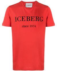 Iceberg ロゴ Tシャツ - オレンジ