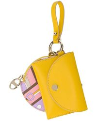 Emilio Pucci Abstract Print Purse - Yellow