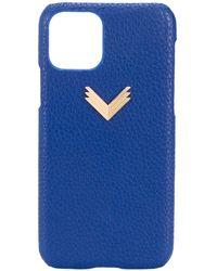 Manokhi IPhone 11 Pro-Hülle mit Prägung - Blau