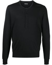 Tom Ford ヘンリーネック Tシャツ - ブラック