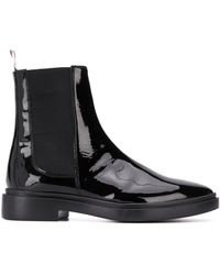 Thom Browne Soft Leather Chelsea Boot - Black