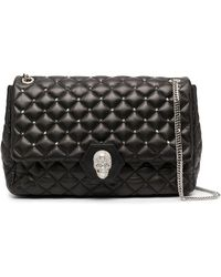 Philipp Plein Skull And Studs Shoulder Bag - Black