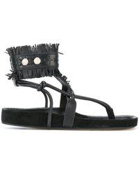 Isabel Marant - Fringe-trimmed Sandals - Lyst