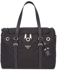 Prada Logo Dog Holdall Bag - Black