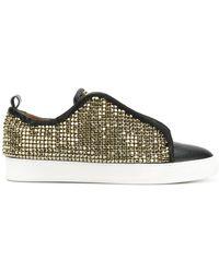 Black Dioniso Crystal Sneakers - Black