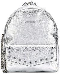 Jimmy Choo Cassie backpack - Métallisé