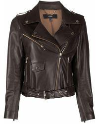 Arma Kylie Leather Jacket - Black