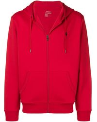 Polo Ralph Lauren Logo embroidered hoodie - Rouge
