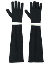 Prada - Long Technical Gloves - Lyst